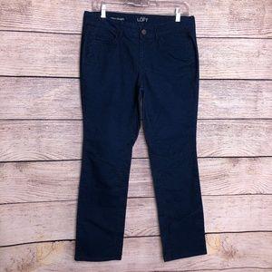 LOFT Navy Corduroy Pants Size 8 Petite
